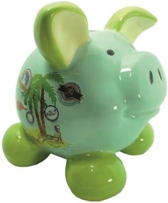 Con forma de cerdo Swiggie cerditos de la suerte de vacaciones de diseño de caja registradora Hucha con diseño de 8,5 cm 13 cm 15,5 cm, 15,5 cm: Amazon.es: Hogar