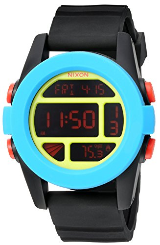 Nixon Men's A1971935-00 Unit Digital Display Automatic Self Wind Blue Watch