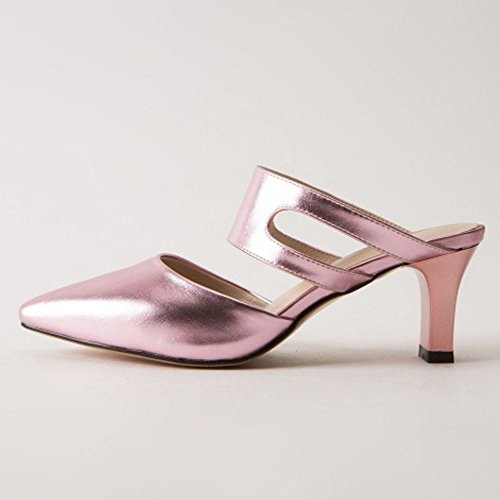 Zanpa Mules Sandali Scivolare Donne Mode su Pink Heels OEYnOqHfrw