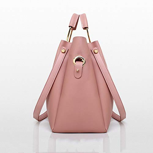 Borsetta Femminile 4 Olio Secchio LUCKYCCDD Borsa Pink Set Donna Messenger PU Moda Di White Bag Da gdUvwqS