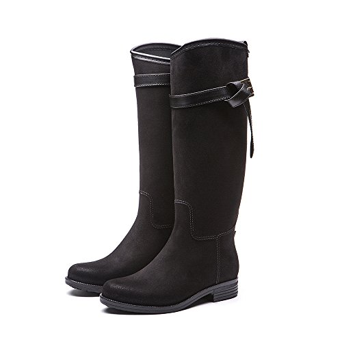Long Black With Adult Rubber Elastic Shoes Cavave Rain Rain Lady's Boots qxHXv