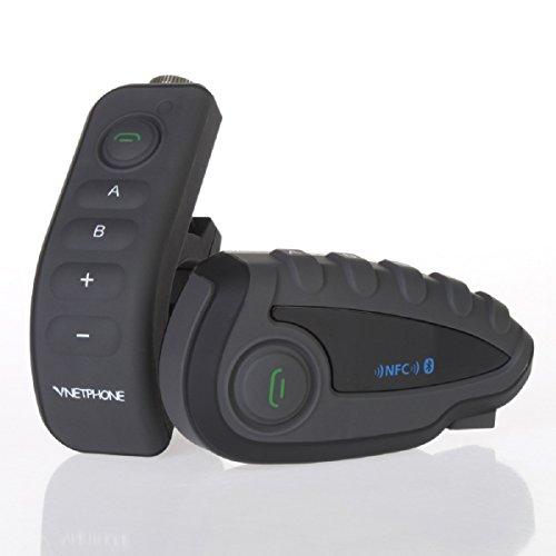 TOPRUI V8 Motorcycle Helmet Interphone Bluetooth Intercom Headphones, 5 Riders Up to 1200 Meters Wireless Communication Interphone MPS