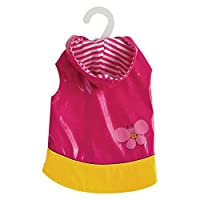 Dogit 90021 Style Raincoat, Pink with Butterfly Design, Large