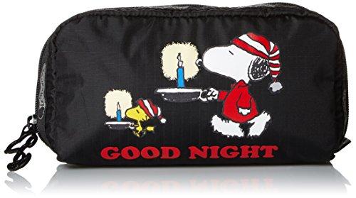 lesportsac-peanuts-x-rectangular-cosmetic-snoopy-sleepover