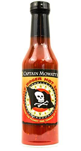 Captain Mowatt's Jolly Roger, Smokey Habanero Hot Sauce, 8 oz.