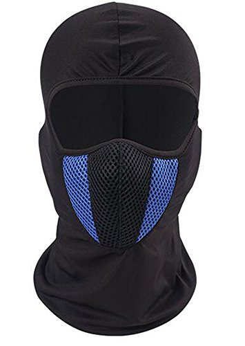 Do It Yourself Sports Costumes (ICESNAKE Windproof Face Mask-Balaclava Hood Motorcycle Ski Mask,Ultimate Thermal retention In Outdoors Super Comfortable hypo-Allergenic For Code Weather (Blue))