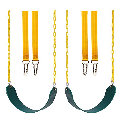 Lovely Snail Heavy Duty Swing Seat 2 Pack with 2 Swing Straps, 2 Caribiners - Swing Set Accessories-Swing Seat Replacement