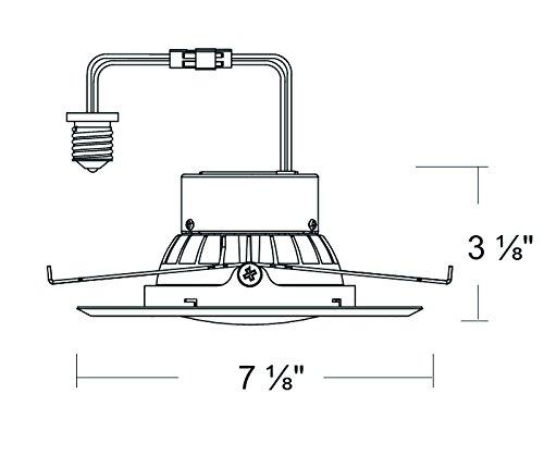 6'' LED Recessed Retrofit Kit Adjustable Gimbal Dimmable 4000K