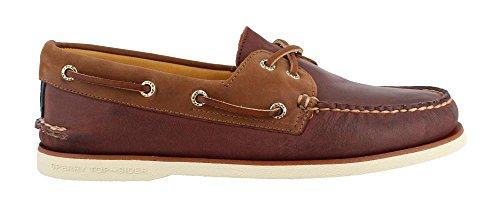 Sperry Athletic Boat Shoes - Sperry Men's Gold A/O 2-Eye Chevre Burgundy/Brown 9 M US