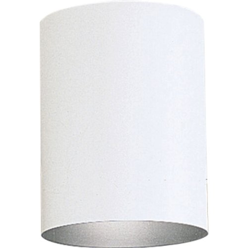 Progress Lighting P5774-30 5-Inch Flush Mount Cylinder with Heavy Duty Aluminum Construction Powder Coated Finish and UL Listed for Wet Locations, - White Light 30 Finish