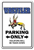 WRESTLER Sign wrestle sports athlete coach high school college wrestling | Indoor/Outdoor | 20'' Tall