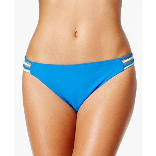 Hula Honey Womens Hipster Strappy Swim Bottom Separates Blue L