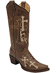 Corral Womens Circle G Side Cross Embroidered Western Boot