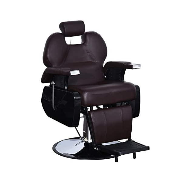 BarberPub Heavy Duty Reclining Barber Chair for All Purpose