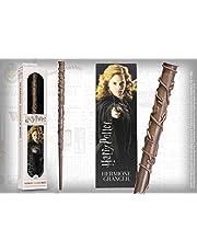 The Noble Collection NOB6314 Harry Potter toverstaf van Hermine incl. 3D bladwijzer bruin, van kunststof, ca. 30,5 cm, standaard