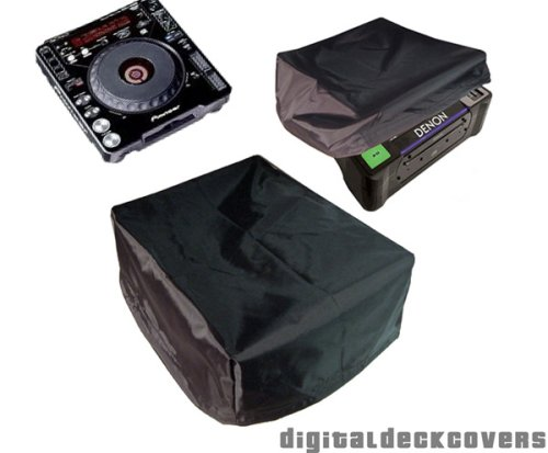 Dust Cover for DJ CD & MP3 Turntables fits Pioneer CDJ-1000 & CDJ-900; DenonDJ DN-S3500, Technics SL-DZ1200, Numark V7; Stanton C313 & C314 & others by DigitalDeckCovers