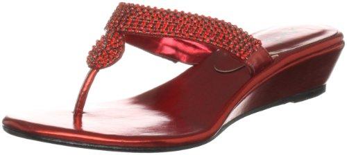 Unze Evening Sandals L18277W - Sandalias para mujer Rojo