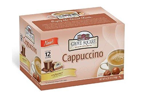 Grove Square Cappuccino Single Serve Cappuccino Cups, Haz...