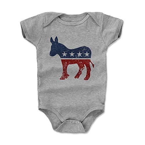 Bald Eagle Shirts Democratic Donkey Baby Clothes, Onesie, Creeper, Bodysuit - Democrat Donkey (Heather Gray, 3-6 Months) -