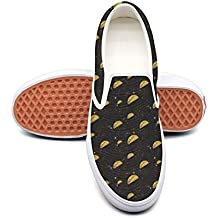 kjeqewfda Taco Galaxy Space Taco Stars Hipster Food Men's Cool Walking Shoes Low Top Lightweight Canvas Sneakers