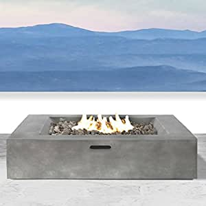 Fire Pit For Outdoor Home Garden Backyard Fireplace By Century Modern Outdoor (Black FInish)