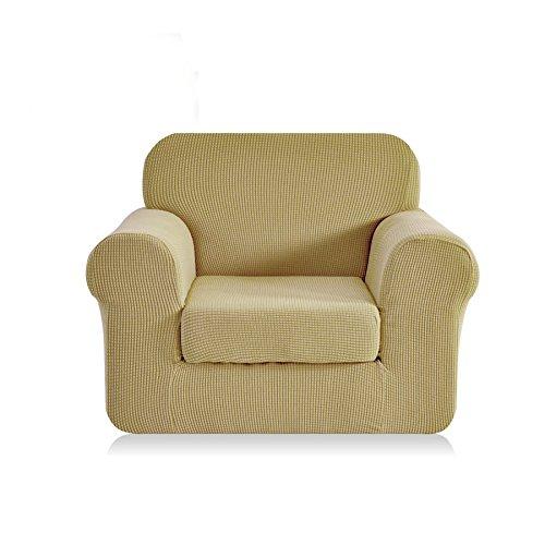 CHUN YI 2-Piece Jacquard Polyester Spandex Sofa Slipcover