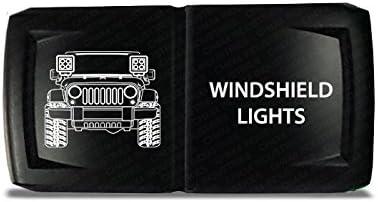 Green LED CH4x4 Rocker Switch Jeep Windshield Lights Symbol