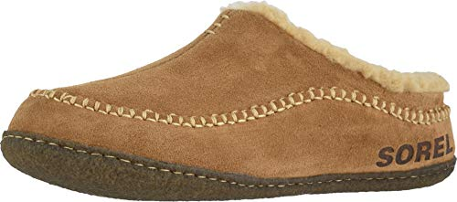 Sorel - Men's Falcon Ridge II House Slippers with Suede Upper and Wool/Polyester Lining, Camel Brown/Curry, 11 M US