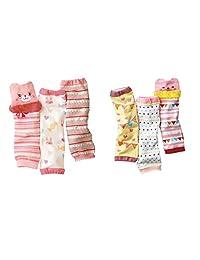 Luckystaryuan ® Set of 6 Cotton Baby Cartoon Leg Warmers