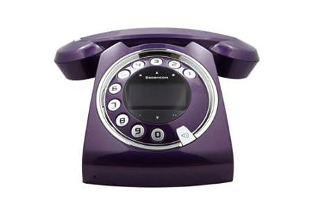 Téléphone fixe SAGEM SIXTY VIOLET SOLO AVEC REPONDEUR