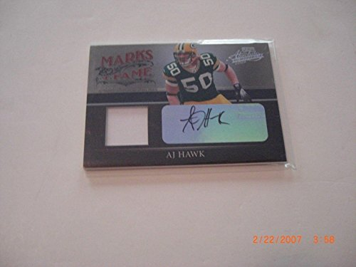 Aj Hawk 2006 Absolute Marks Of Fame Game Used Jersey Auto 10/25 Signed Card - Football Game Used ()