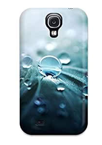New Style Case Cover NIMopqd536XrfXC Water Frops On A Feather Compatible With Galaxy S4 Protection Case