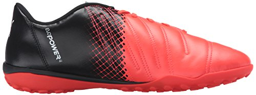 Puma Mens evoPOWER 4.3 Tricks TT Soccer Shoe Red Blast/Puma White