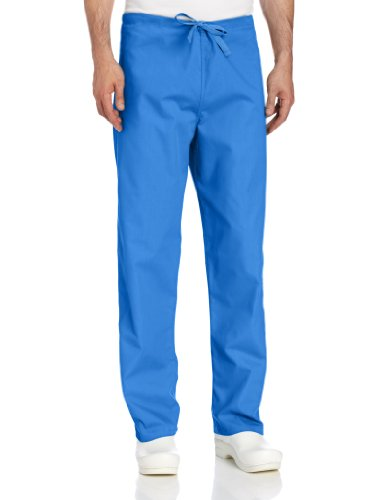Landau Big and Tall Comfort Stretch One-Pocket Reversible Drawstring Scrub Pant, Royal Blue, Small