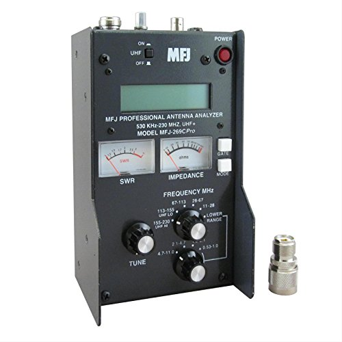 MFJ Enterprises Original MFJ-269CPRO .53-230 / 430 ~ 520 MHz Antenna / SWR / RF Analyzer w/ LCD, Counter & Meters. (Antenna Rf Analyzers)