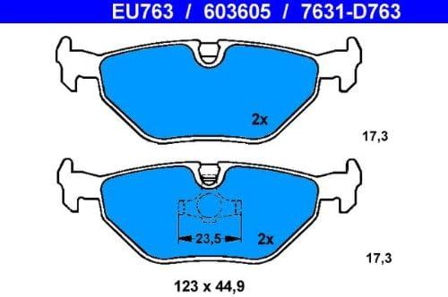 ATE 13046036052 plaquettes de frein /à disque