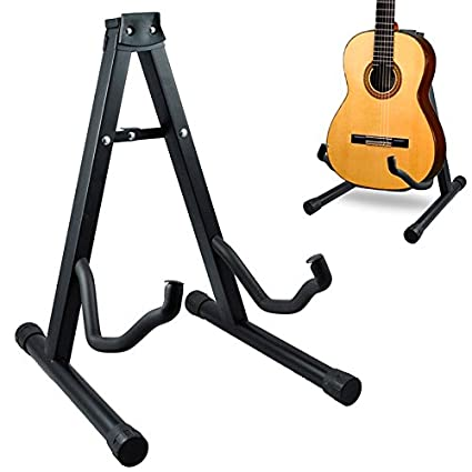 Soporte universal plegable de suelo para guitarra acustica eléctrica española.