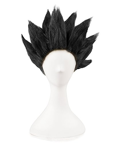 Miccostumes Men's Dragon Ball Goku Cosplay Wig (Black) (Goku Costume Adult)