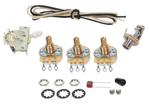 Fender Stratocaster Strat 5-way Wiring Kit - CRL Switch - CTS Pots