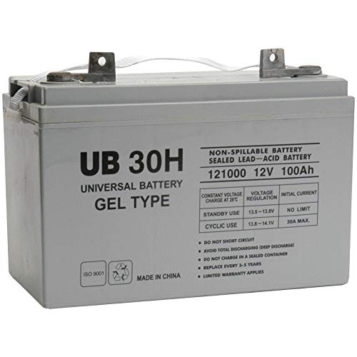 12v 100ah (Group 30H) Gel Battery for EPC48180/1800-F1700A Power - 30h Cabinet