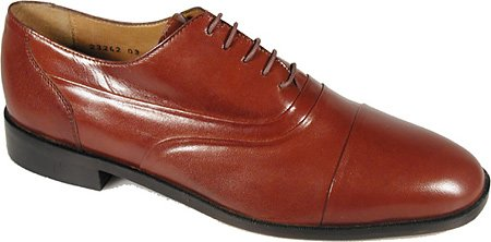 Stacy Adams Mens Rivera 23242 Cap Toe Skor, Cognac Kid, 10,5 W Oss