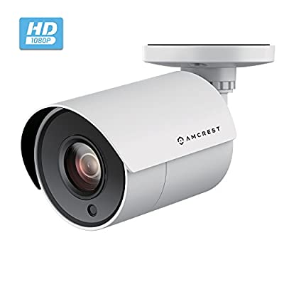 Amcrest UltraHD 4-Megapixel Bullet Outdoor Security Camera (Quadbrid 4-in1 HD-CVI/TVI/AHD/Analog), 4MP 2688x1440P, 98ft Night Vision, Plastic Housing, 2.8mm Lens 85° Wide Angle from Amcrest