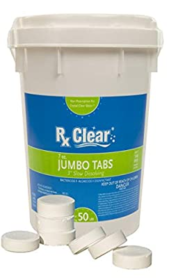 Rx Clear 3 Inch Stabilized Chlorine Tablets by Rx ClearTM