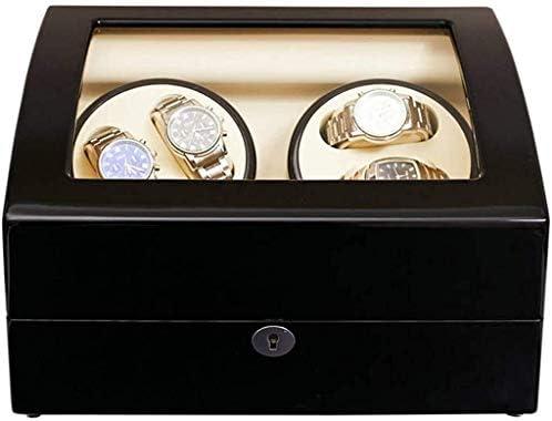 ギフトウォッチワインダーウォッチワインダー、自動4 + 6の超静音5つのファイルアジャスタブルモーターボックス防止ザ・ウォッチ表示Boxsを巻き機械式腕時計の停止から