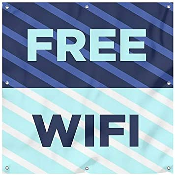 CGSignLab Free WiFi Victorian Card Heavy-Duty Outdoor Vinyl Banner 6x6