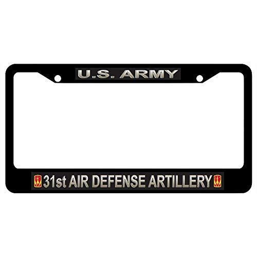 BBHUHU Art License Plate Frame Label Aluminum License Plate Cover .(12x6) inch - U.S. Army 31st Air Defense Artillery Brigade