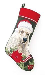 Amazon.com: White Standard Poodle Dog with Santa Hat