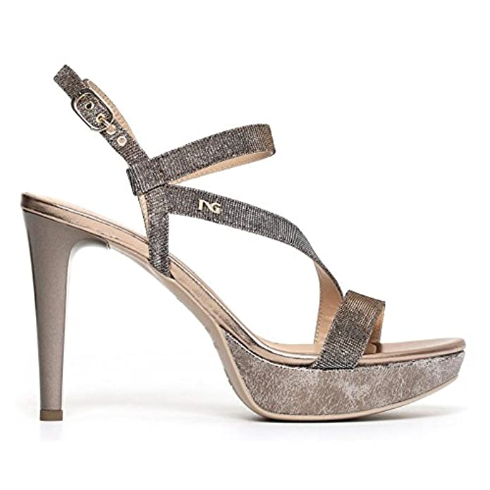 Sandali Nerogiardini P806070de-327 6070 Scarpe Eleganti In Pelle Rame 40