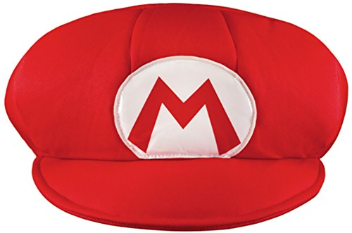 Disguise Men's Nintendo Super Mario Bros. Mario Adult Hat Costume, Red/White, One Size (Super Mario Costume For Men)