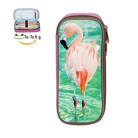 Minimalist Big Capacity Pencil Case Bag Flamingo Multifunction Pencil Holder Makeup Bag Storage Organizer Double - Mesh Wader Bag